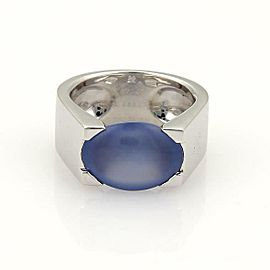 Cartier Chalcedony 18k White Gold Ring Size EU 54-US 7