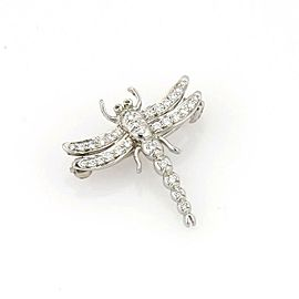 Tiffany & Co. Diamond Platinum Dragonfly Brooch Pin