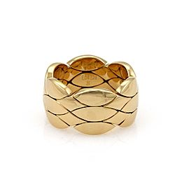 Cartier 18k Yellow Gold Flexible 10.5mm Weave Panther Band Ring Size 51-US 5.75
