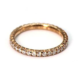 Etincelle de Cartier Diamond 18k Rose Gold Wedding Band Size 47-US 4