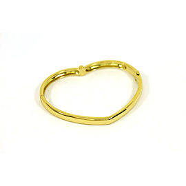 Designer Piaget 18K Yellow Gold & Diamonds Ladies Heart Motif Bangle Bracelet