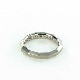 David Yurman Faceted 4mm Titanium Band Mens Ring Sz 10