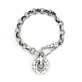 "John Hardy ""Pebble"" Men's Sterling Silver Pebble Chain Link Bracelet"