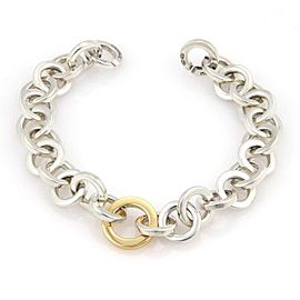 Tiffany & Co. Sterling 18k Yellow Gold Circle Link Bracelet