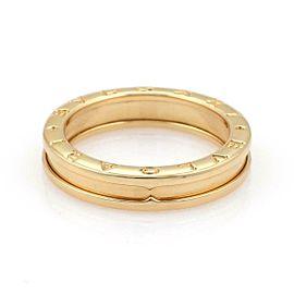 Bulgari Bulgari B Zero-1 Single 5mm 18k Yellow Gold Band Ring Size 52-US 6