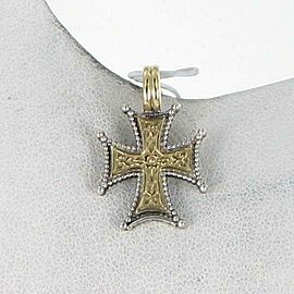Konstantino Eros Pendant Small Beaded Trim Reversible Sterling Silver 18k Gold