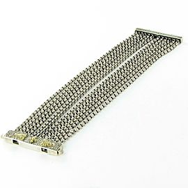 Konstantino Penelope 12-row Chain Bracelet Etched Slide Lock Sterling 18K Gold