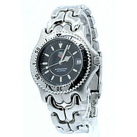 TAG Heuer SEL SWISS Quartz Black Dial Stainless Steel Men's Watch WG1118