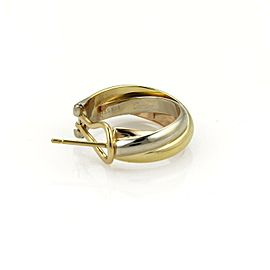Cartier TRINITY 18k Tri-Color Gold Medium Size Interlaced Hoop Earrings