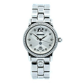 Montblanc Meisterstuck Diamond Date 32mm Quartz Steel Ladies Watch Ref: 7079