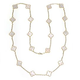 Van Cleef & Arpels Vintage Alhambra Mother of Pearl 20 Motif Necklace