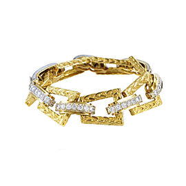 Hammerman Brothers 18K Multi-Tone Gold Diamond Link Bracelet