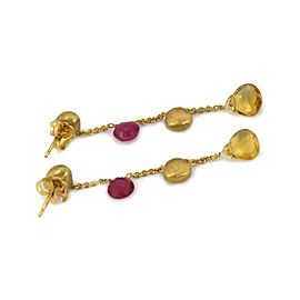 Marco Bicego PARADISE Sapphire 18k Yellow Gold Bead Dangle Earrings