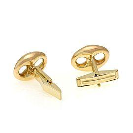 Gucci 18k Yellow Gold Mariner Design Stud Cufflinks