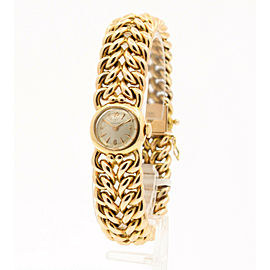 Ladies Vintage OMEGA 14k Rose Gold double Woven Watch 54.9 Grams