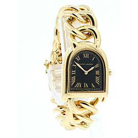 Ralph Lauren 18k Yellow Gold Stirrup Link Watch 92.3 Grams