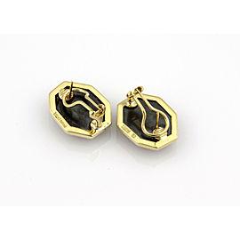 Tiffany & Co. 18K Yellow Gold Hematite Designer Earrings