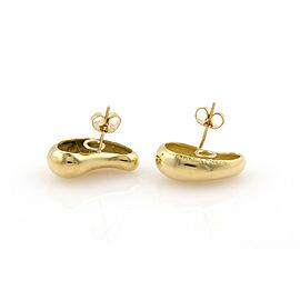Tiffany & Co. Peretti 18K Yellow Gold Large Tear Drop Designer Earrings