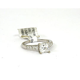 Natalie K. 14K Princess Mounting Only W/Accent Diamond 14k White Gold Ring