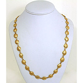 Lovely Vintage Diamonds & 14k Yellow Gold Sea Shell Links Necklace