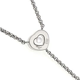 Chopard Happy Diamond 18k White Gold 'I Love You' Lariat Necklace
