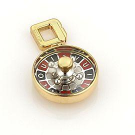 Louis Vuitton 18k Two Tone Gold Casino Roulette Pendant