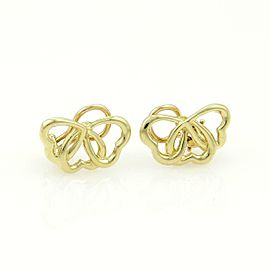 Tiffany & Co. 18k Yellow Gold 3 Interlock Hearts Clip On Earrings