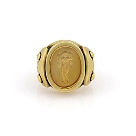 Kieselstein Cord 18K Yellow Gold Heavy Ring with Nude Carving