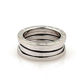 Bvlgari Bulgari B Zero-1 18k White Gold 7mm Band Ring Size 51-US 5.5
