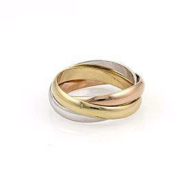 Cartier Trinity 18k Tricolor Gold 3.5mm Triple Band Ring Size 50-US-5