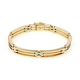 Tiffany & Co. Gatelink 14k Yellow Gold Flex Section Link Bacelet