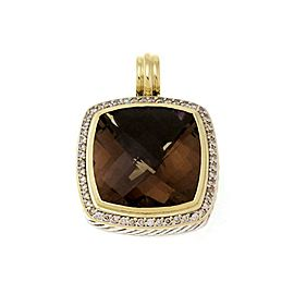 64526 David Yurman Albion Diamond Smoky Quartz 925 Silver 18k Gold Pendant