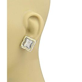 David Yurman Sterling 14k Yellow Gold Quatrefoil Cable Post Clip Earrings