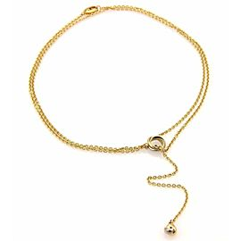 Cartier Trinity 18k Gold Mini Ring Love Knot Pendant Double Lariat Necklace