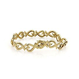 Tiffany & Co. Picasso 18k Yellow Gold Loving Heart Link Bracelet