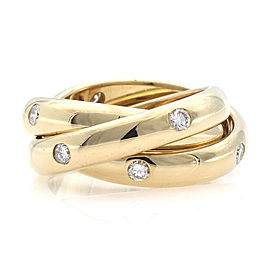 CARTIER 18k Two TOne Gold and Diamond Trinity Ring CHAT-949