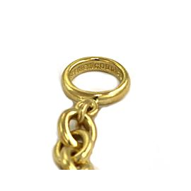 Kieselstein Cord 18k Yellow Gold 8mm Hefty Oval Link Chain Toggle Clasp