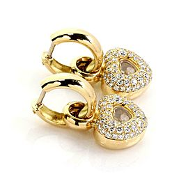 Chopard Happy Diamond 18k Yellow Gold 2.75ct Diamond Hearts Dangle Earrings