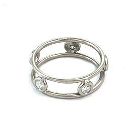 Tiffany & Co. Peretti Diamond By The Yard Platinum 5.5mm Band Ring Size 4.5