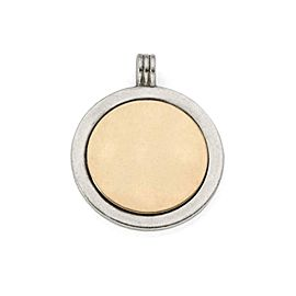 Tiffany & Co. Vintage Sterling Silver 18k Yellow Gold Round Pendant