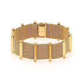18k Rose Gold 23.5mm Fancy Wide Mesh Flex Bracelet