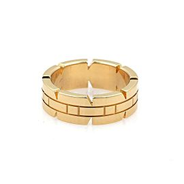 57399Cartier Tank Francaise 18k Yellow Gold 6mm Wide Band Ring Size 49-US 5 Cert