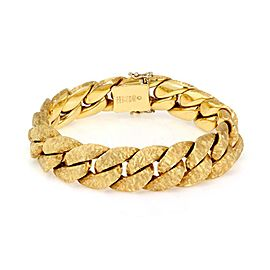 Nicolis Cola 18k Yellow Gold Fancy Textured Braid Link Bracelet