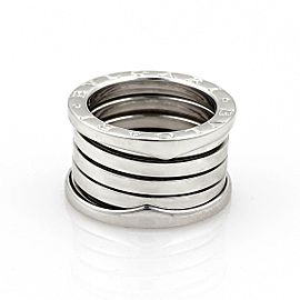 Bvlgari Bulgari B Zero-1 18k White Gold 13mm Band Ring Size EU 51-US 5.25