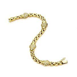 Piaget 1.20ct Diamond 18k Yellow Gold Hearts & Panther Links Bracelet
