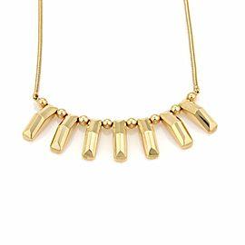 Vintage 14k Yellow Gold Fancy Bead & Bar Snake Chain Drape Necklace