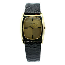 Vintage MOVADO 14k Solid Yellow Gold Tonneau Men's Dress Watch