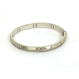 Tiffany & Co. Streamerica Diamonds 18k White Gold Bangle Bracelet