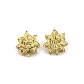 Tiffany & Co. Vintage 18k Yellow Gold Leaf Stud Earrings