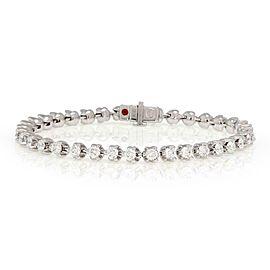 "Roberto Coin 5.00ct Diamond 18k White Gold Tennis Bracelet 7.25"" Long"